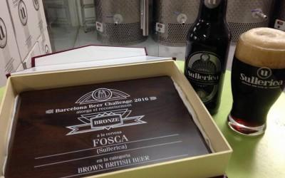 Sullerica Fosca gana la medalla de bronce en el Barcelona Beer Challenge